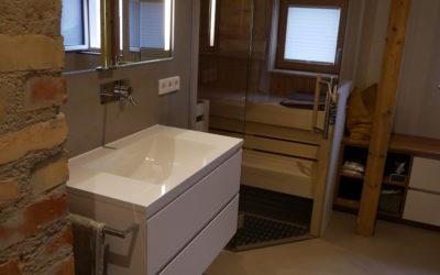Elementi in der Dusche und WC